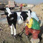 Süt Sağan Köylü Kadın Maketi