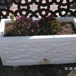 Kabartmalı Çiçeklik Beton