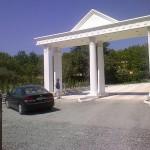 Korint Kare Sütun Kapı Girişi Fiber