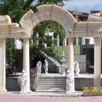 Korint Yuvarlak Sütun Hadriyan Kapı Girişi