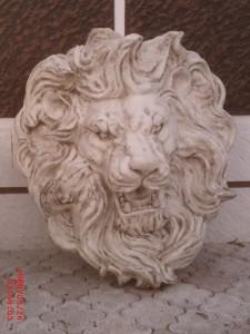 Aslan Kafası Rölyef Fiber