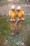 İkili Papağan Heykeli