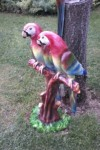 İkili Papağan Heykelleri