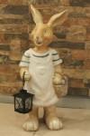 Dekoratif Sepetli Tavşan Maketi